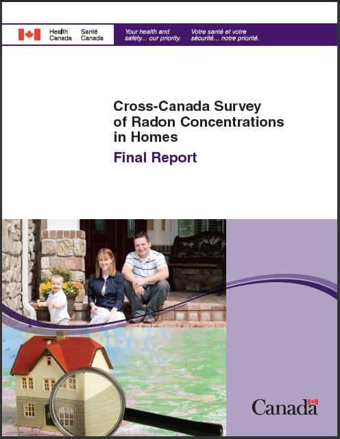 Cross-Canada Survey of Radon Concentrations in Homes