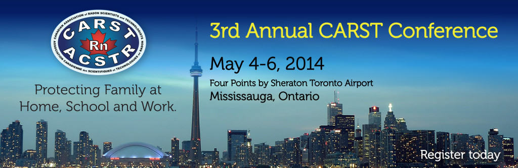 May 4th – 3rd Annual CARST Radon Conference