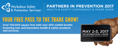 Complimentary Passes for Partners in Prevention Trade Show on May 2, 2017 (value is $29)